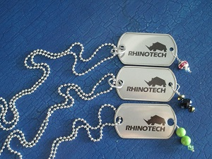 SinglePrint Dog Tag Bling 300